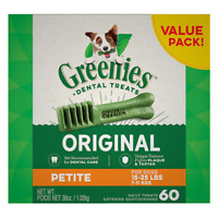 Greenies Petite Dental Dog Treats. Petite size. Various pack