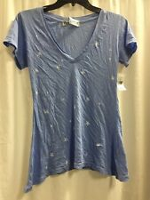 Wildfox Couture Short Sleeve Tee Printed Stars Size S A4