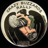 Crazy Buzzards rally Motorbike Enamel Pin Badge 1992