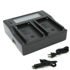 Wasabi Power Dual LCD Battery Charger for Sony NP-F550 NP-F570 NP-F750 NP-F770