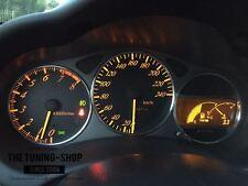 Pour Toyota Celica MK7 99-06 Aluminium Cadran Jauge Bagues X 3 Chrome Trim entoure