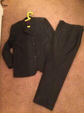 "Men's Next Pure Wool Striped Suit Size 36""R Trousers - 42""R Jacket"