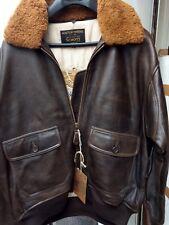 Schott Nyc G1S Leather Lambskin Pilot Jacket Flight brown antique Jacket  NWT