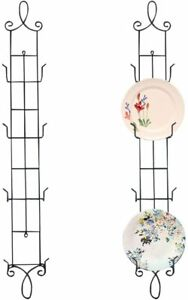 Plate Rack Wall Display Decorative Vertical Stand Metal 4 Tier 42inch Easel 2pcs