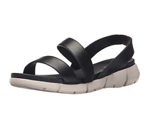 69360bc1bee Calvin Klein Winny Flat Strappy Sport Sandals Black Genuine Leather Womens  Sz-8
