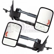 Tow Mirror Left Right Side PAIR Sierra Power Heated Telescopic w/Signal Lamp New