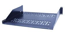 "19"" Vented Steel 2 Space 2U Rack Mount Cantilever Network Shelf 14"" Deep"