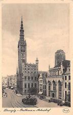 Danzig Rathaus Artushof, Strassenbahn gelaufen 1942