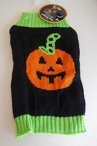 SIMPLY DOG BLACK & GREEN with PUMPKIN SWEATER Puppy/Dog xsmall
