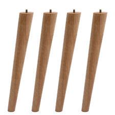 Wooden Table Legs Tapered 4pcs Oak Chair Stool Chest Sofa Furniture Feet Set UK