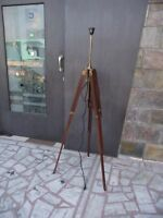 Nautical Home Decor Floor Lamp Wooden Tripod Lighting Stand For With Brown Finis