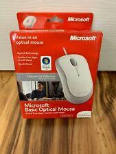 BRAND NEW MS Microsoft Basic Optical USB Mouse White MICROSOFT IN BOX