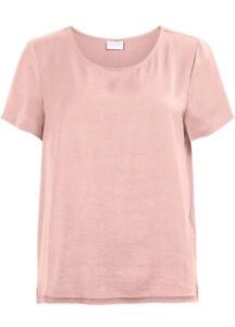 Vila @ Freemans Pale Pink Satin Box Top Size L (UK 14)