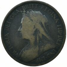 1900 HALF PENNY GB UK QUEEN VICTORIA COLLECTIBLE COIN    #WT31621