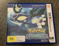 Pokemon Alpha Sapphire Nintendo Genuine 3DS AUS Great Condition VGC