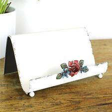 Post lettre rack métal Shabby Papier Bureau Chic Vintage de stockage Titulaire Fleur