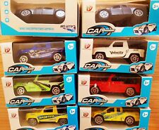 LOT of 8 PICKUP TRUCKS & JEEPS Brand New Unopened 1/64 Scale Diecast Models Cars