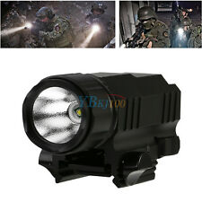 Tactical Hunting LED Flash Light Torch For Rifle Shotgun 20mm Picatinny Rail JA