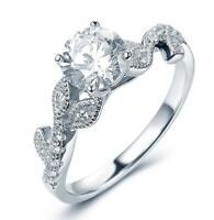 Fashion Women 925 Silver Rings White Sapphire Wedding Ring Free Ship Size 6-10