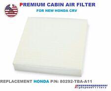 PREMIUM CABIN AIR FILTER For NEW 2017 2018 HONDA CRV C 80292-TBA-A11