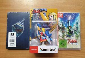 The Legend of Zelda Skyward Sword HD + Steelbook Nintendo + Amibo Switch Neu