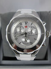 NEW Michele Large Tahitian Jelly Bean White & Silver Watch MWW12F000032 + BONUS