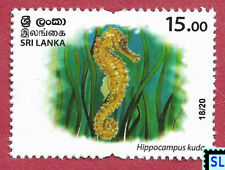 Sri Lanka Stamps 2020, Wild Species Threatened, Fish, Seahorse, Marine, MNH