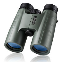 10X42 Military Waterproof Binoculars Compact for Adults Hunting Green HUTACT