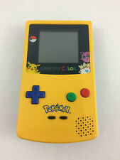 Nintendo Game Boy Color Pokemon Pikachu Special Edition GBC w/ NEW Front, TESTED
