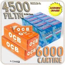 4500 Filtri RIZLA SLIM 6mm + 6000 Cartine OCB ORANGE CORTE ARANCIONI + ACCENDINO