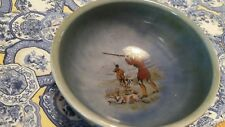 "Signed Wade Armagh Irish Porcelain 4 3/4"" Bowl - Hunting Scene Inside"