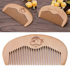 Natural Peach Wood Comb Beard Fine Tooth Head Anti-static Massage Hair Care Tool
