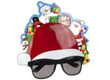 ** NOVELTY CHRISTMAS HAT SUNGLASSES NEW KIDS ADULT XMAS GLASSES