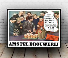 Amstel Brouwerij , vintage  beer advertising , Poster, Wall art, Reproduction.
