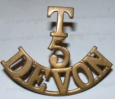 T 5 DEVON ORIGINAL WW1  SHOULDER TITLE
