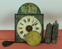 RATERA OR WALL CLOCK IN MINIATURE. FRONT POLYCHROMED. GERMANY. XIX CENTURY