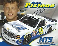 CHASE PISTONE AUTOGRAPHED NTS MOTORSPORTS NASCAR CAMPING WORLD PHOTO POSTCARD