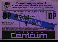 Ticket DFB-Pokal 89/90 SV Werder Bremen - VfB Stuttgart