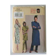 Vogue 7747 Betzina Asian Style Asymmetrical Frog Closure Tunic Dress Pants