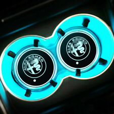 Colorful LED Car Cup Holder Pad Mat Fit For Alfa Romeo Auto Atmosphere Light New