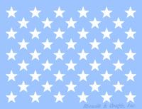 "1.50"" STAR STENCIL ""50 STARS"" TEMPLATE PATRIOTIC AMERICAN FLAG 11.25"" x 16.75"""