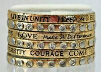Good Works Make a Difference Gold Metallic 6 Strand Inspiration Bracelet Brads R