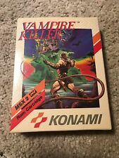 VAMPIRE KILLER / CASTLEVANIA - MSX KONAMI EUR BOX - BRAND NEW - RARE COLLECTORS