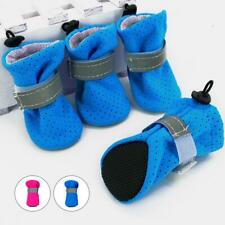 Non Slip Puppy Small Dog Boots Shoes Reflective Pet Booties Paw Protection