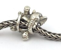 Authentic Trollbeads Retired Circus Elephant 925 Silver Bead Charm 11511 , New