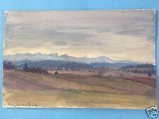 Münchner Schule Aquarell Gemälde Grafrath Alpen Ammersee Fritz van der Venne ~10