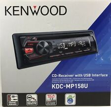 KENWOOD - KDC-MP158U -  Single DIN CD/USB/MP3 Receiver