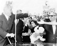 President Lyndon Johnson campaigned at Bergen Mall New Jersey LBJ New 8x10 Photo