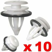 10pcs Card Trim Panel Interior For Land Rover Freelander 2 Door Clips white Ax