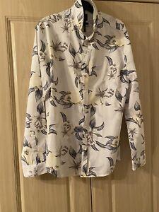 Mens Medium New Flowery Shirt